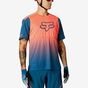 Fox Kortärmad Cykeltröja Flexair SS Orange/Blå
