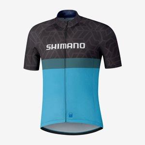 Shimano Cykeltröja Kortärm Team Svart/Blå