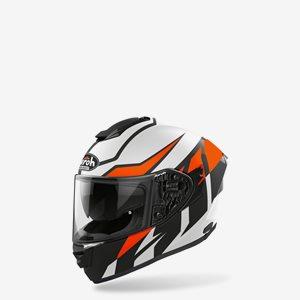 Airoh MC Hjälm ST501 Frost Vit/Svart/Orange