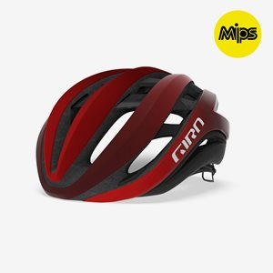 Cykelhjälm Giro Aether Spherical MIPS Matte Bright/Dark Red