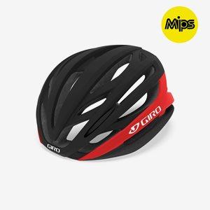 Cykelhjälm Giro Syntax MIPS Matte Black Bright Red