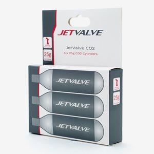 Weldtite Jetvalve Co2 Cylinders 3-Pack 25g
