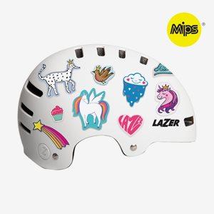 Lazer Cykelhjälm One+ MIPS Stickers Vit
