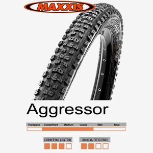 Däck Maxxis Aggressor TR/DoubleDown 58-622 (29 x 2.30) vikbart