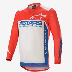 Alpinestars Racer Crosströja Supermatic Röd/Blå/Vit