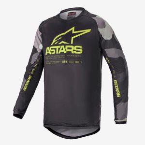 Alpinestars Junior Crosströja Racer Tactical Camo/Gul Fluo