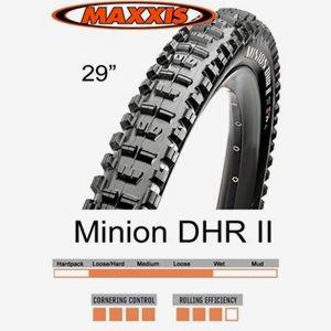 Däck Maxxis Minion DHR II 3CT/EXO/TR 61-622 (29 x 2.40WT) vikbart