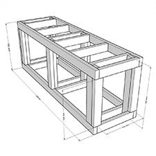 Bygg en akvariebänk för akvarium på 720 liter