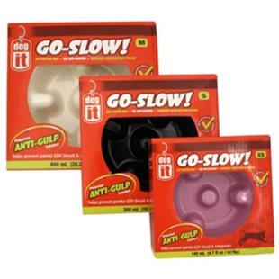 Matskål Go-Slow - Svart - 300 ml - Plast - Dogit