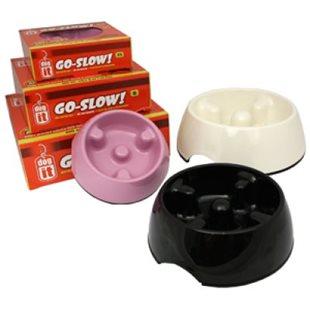 Matskål Go-Slow - Svart - 1200 ml - Plast - Dogit