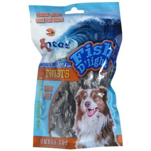 Hundgodis - Tvinnad fisk ´Fish D´Light´ 100g - [20-pack]