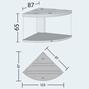 Juwel Trigon 350 liter LED - Hörnakvarium - Svart