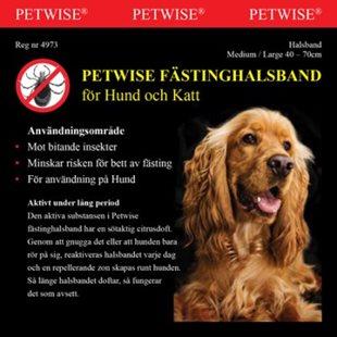Petwise Fästinghalsband För Hund - Medium/ Large - 40-70 Cm