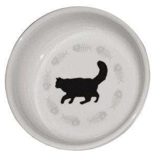 Keramikskål - Katt - Enkel - 12 Cm