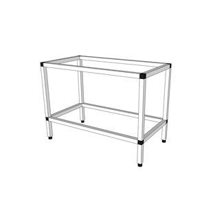 Akvarieställning i aluminium - 105 liter