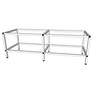 Akvarieställning i aluminium - 375 liter
