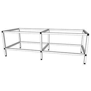 Akvarieställning i aluminium - 540 liter