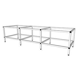 Akvarieställning i aluminium - 600 / 720 liter
