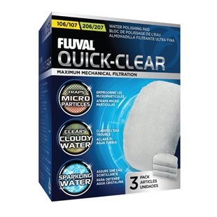 Fluval 104-107/204-207 - Fin - Filtermatta - 3 st