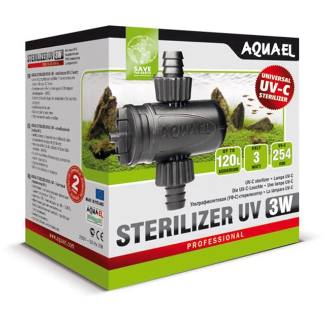 Aquael Sterilizer UV AS 3 W - UVC-enhet