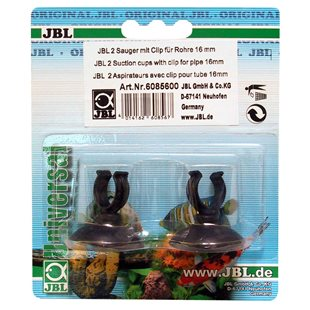 JBL - Sugkopp med clips 16/22 mm - 2-pack