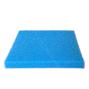 Blå grovporig filtermatta - 50x50x5 cm - 10 PPI