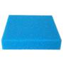 Blå finporig filtermatta - 50x50x2,5 cm - 30 PPI
