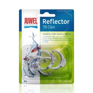 Juwel Reflektorclips - 4 st - T8 Plast - 26 mm (Äldre)