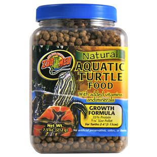 Zoo Med Natural Aquatic Turtle Food - 212 g - Growth Formula