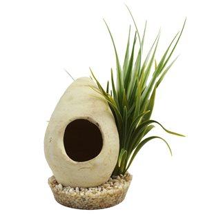 Plastväxt med grotta - Hutte Refuge - 22 cm