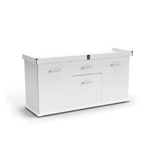 Zqare - Möbel till terrarium - 150x50 cm - Vit