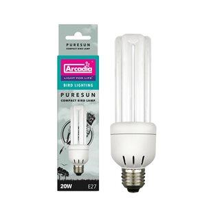 Arcadia Bird Puresun Compact Lamp E27 - 2.4% 20 W