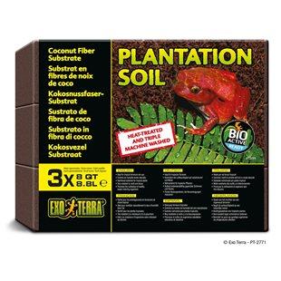 Exo Terra Plantation Soil - 3X8.8L - Kokosfiber