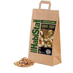 HabiStat Beech Chip - Fin - Bottensubstrat - 25 L