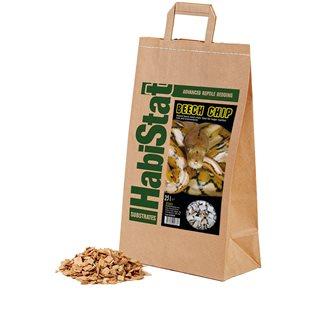 HabiStat Beech Chip - Grov - Bottensubstrat - 25 L