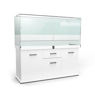 Zqare - Terrarium 150x50x70 cm - Vit med möbel