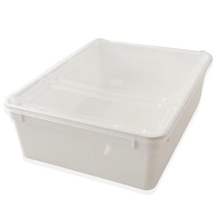 Plastbox - Stapelbar med lufthål  245x185x75 mm - 3 Liter