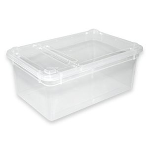Plastbox med lufthål i locket 185x125x75 mm