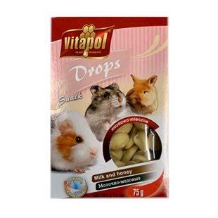Vitapol Drops - Gnagare - Mjölk och Honung - 75 g