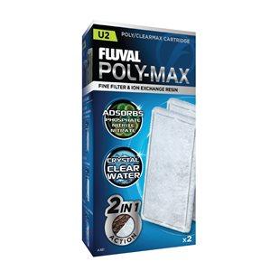 Fluval U2 Poly-Max - Filtermatta - 2-pack