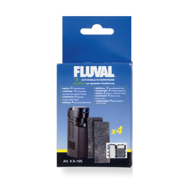 Fluval 2 Plus - Filtermatta - Aktivt kol - 4-pack