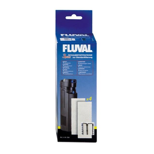 Fluval 3 Plus - Filtermatta - Skum - 4-pack