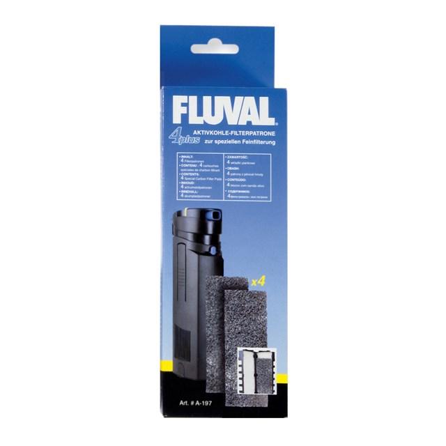Fluval 4 Plus - Filtermatta - Aktivt kol - 4-pack