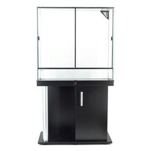 Zqare - Terrarium 80x35x80 cm - Svart med möbel