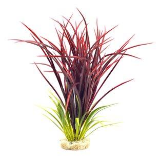 Plastväxt - Bioaqua Acorus - Röd - 29 cm