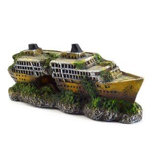 Aqua Della - Kryssningsfartyg - Skeppsvrak - 18x5x8 cm