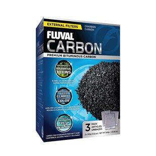 Fluval - Aktivt kol - 3x100 g