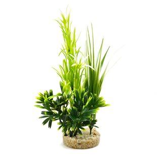 Plastväxt - Fiesta Aqua Bush - Grön - 24 cm