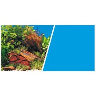 Bakgrund - 31 cm x 7.5M - Växt/Blå
