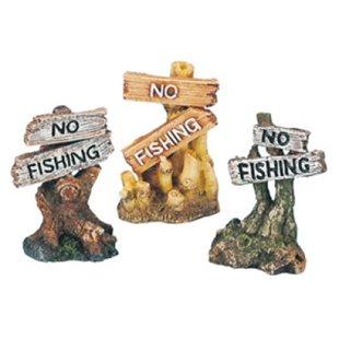 No Fishing skylt - 8 Cm - Polyester